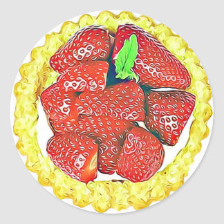 Etiquetas da sobremesa do tarte de morangos