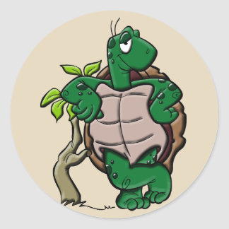 etiquetas da tartaruga dos desenhos animados