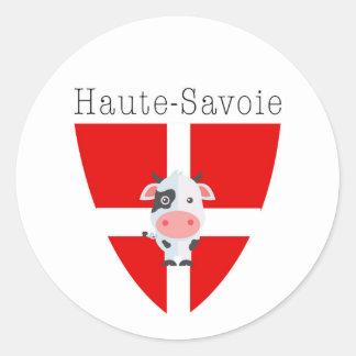 Etiquetas da vaca de Haute-Sabóia (círculo)