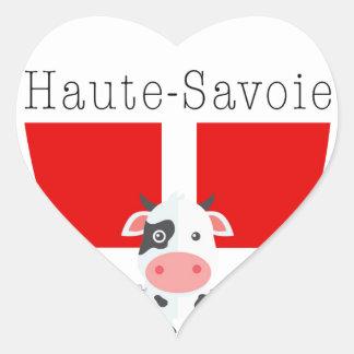 Etiquetas da vaca de Haute-Sabóia (coração)