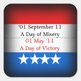 Etiquetas da vitória de Osama Adesivo Quadrado