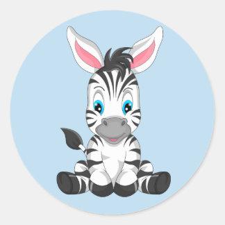 Etiquetas da zebra do bebê