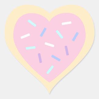 Etiquetas dadas forma coração do biscoito de