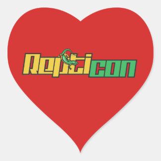 Etiquetas dadas forma coração do logotipo de