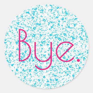 Etiquetas Dalmatian azuis do impressão do adeus