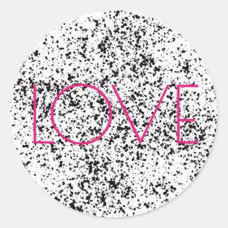 Etiquetas Dalmatian do impressão do amor