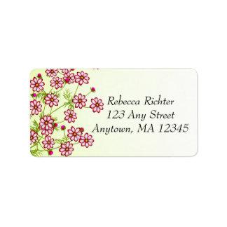 Etiquetas das flores do jardim de Tickseed do Core Etiqueta De Endereço