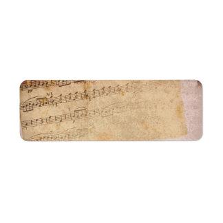 Etiquetas das notas musicais etiqueta endereço de retorno