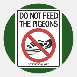 Etiquetas das ofertas do pombo/pregador