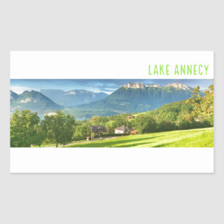 Etiquetas de Annecy do lago (retângulo)