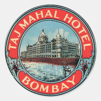 Etiquetas de Bombaim do hotel de Taj Mahal do