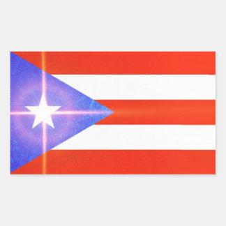 Etiquetas de brilho da bandeira da estrela de