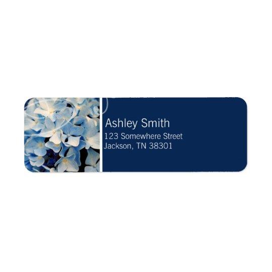 Etiquetas de casamento elegantes azuis do etiqueta endereço de retorno