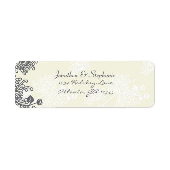 Etiquetas de casamento florais do carvão vegetal e