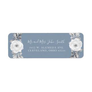 Etiquetas de casamento florais empoeiradas do