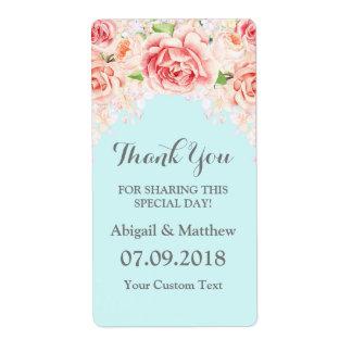 Etiquetas de casamento roxas florais da aguarela