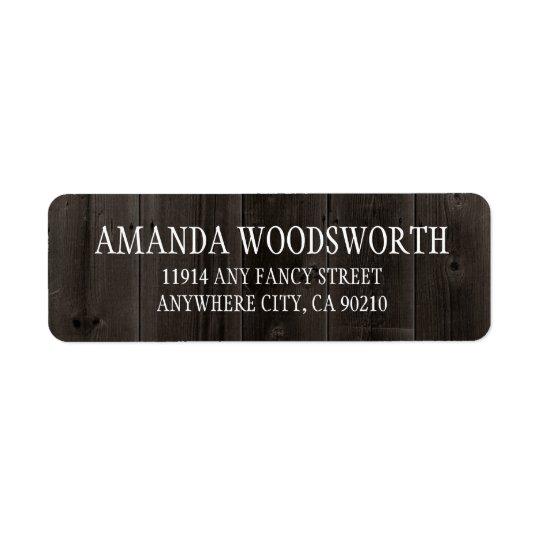 Etiquetas de casamento rústicas da madeira do etiqueta endereço de retorno