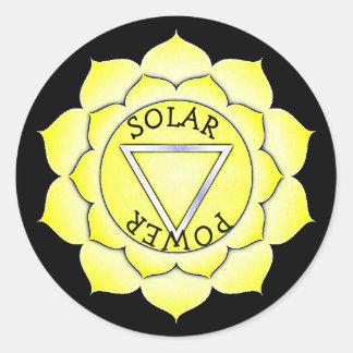 Etiquetas de Chakra do qui do poder do amarelo do