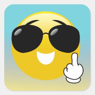 Etiquetas de Emoji Ombre do dedo médio & dos
