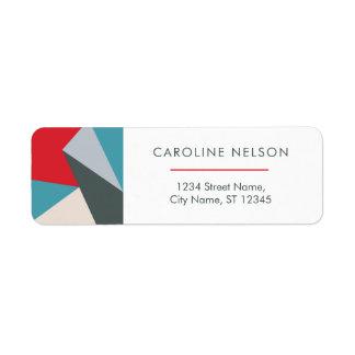 Etiquetas de endereço abstratas modernas coloridas