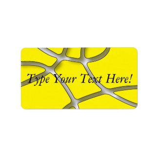 etiquetas de endereço amarelas do labirinto etiqueta de endereço