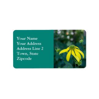 Etiquetas de endereço amarelas do Wildflower de Etiqueta De Endereço