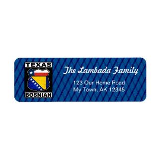 Etiquetas de endereço americanas bosnianas de