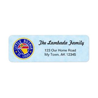 Etiquetas de endereço americanas bosnianas de St