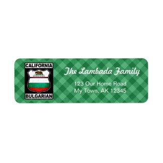 Etiquetas de endereço americanas búlgaras de