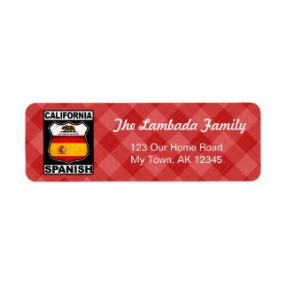Etiquetas de endereço americanas espanholas de