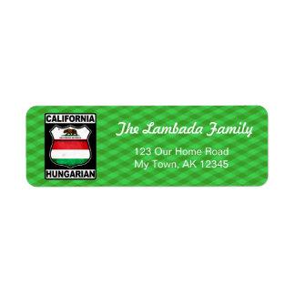 Etiquetas de endereço americanas húngaras de