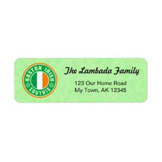 Etiquetas de endereço americanas irlandesas de