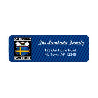Etiquetas de endereço americanas suecos de