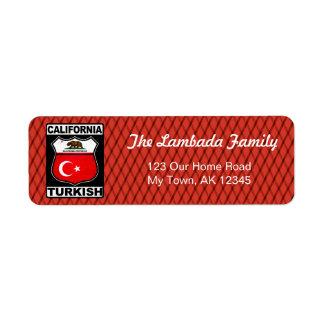 Etiquetas de endereço americanas turcas