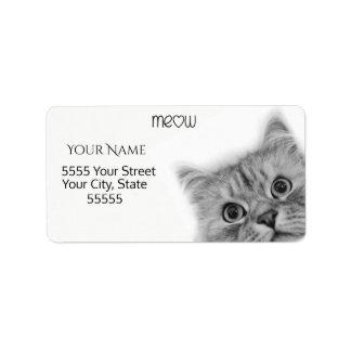 Etiquetas de endereço amigáveis do Meow