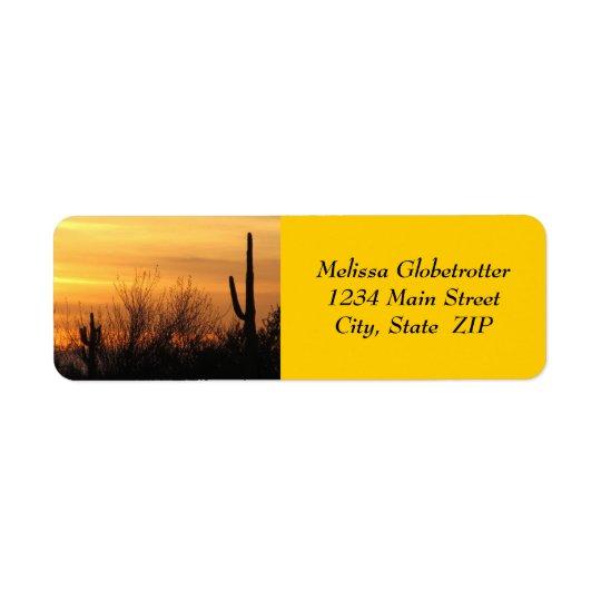 Etiquetas de endereço--Arizona Sunset-3 Etiqueta Endereço De Retorno
