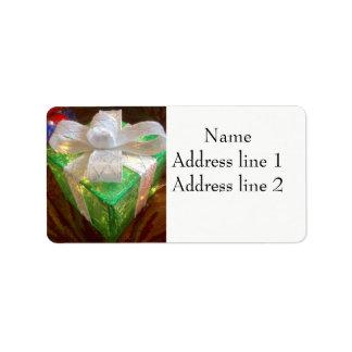 Etiquetas de endereço atuais