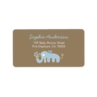 Etiquetas de endereço azuis bonitos do chá de