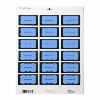 Etiquetas de endereço azuis do medalhão do quadro