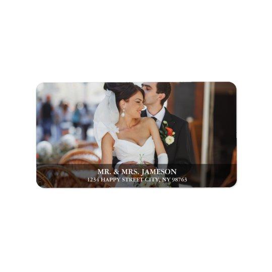 Etiquetas de endereço B da foto da noiva & do