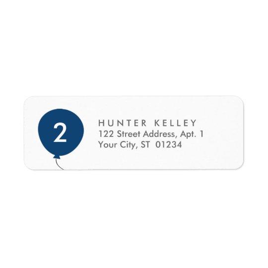Etiquetas de endereço, balão personalizado dos etiqueta endereço de retorno