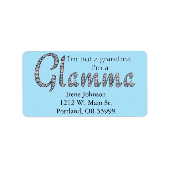 Etiquetas de endereço bling do design de Glamma