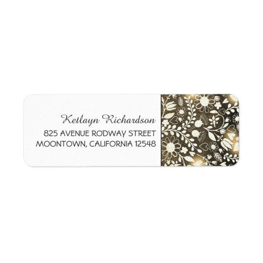 etiquetas de endereço bonitos do casamento das etiqueta endereço de retorno