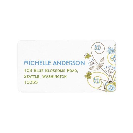 Etiquetas de endereço bonitos do chá de fraldas etiqueta de endereço