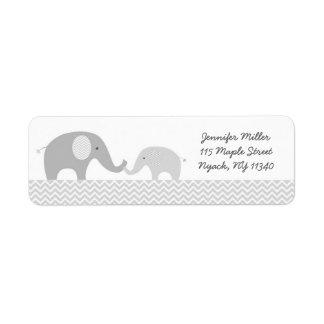 Etiquetas de endereço bonitos do elefante
