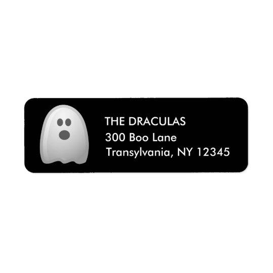 Etiquetas de endereço bonitos do fantasma do Dia Etiqueta Endereço De Retorno
