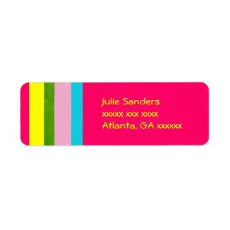 Etiquetas de endereço bonitos etiqueta endereço de retorno