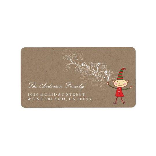 Etiquetas de endereço bonitos mágicas do Natal do Etiqueta De Endereço