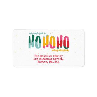 Etiquetas de endereço brilhantes do Natal