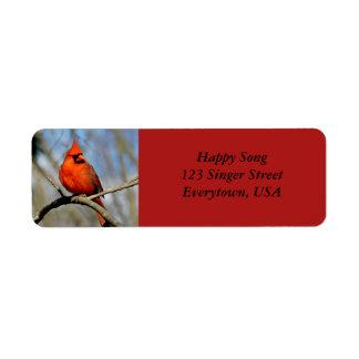Etiquetas de endereço cardinais brilhantes